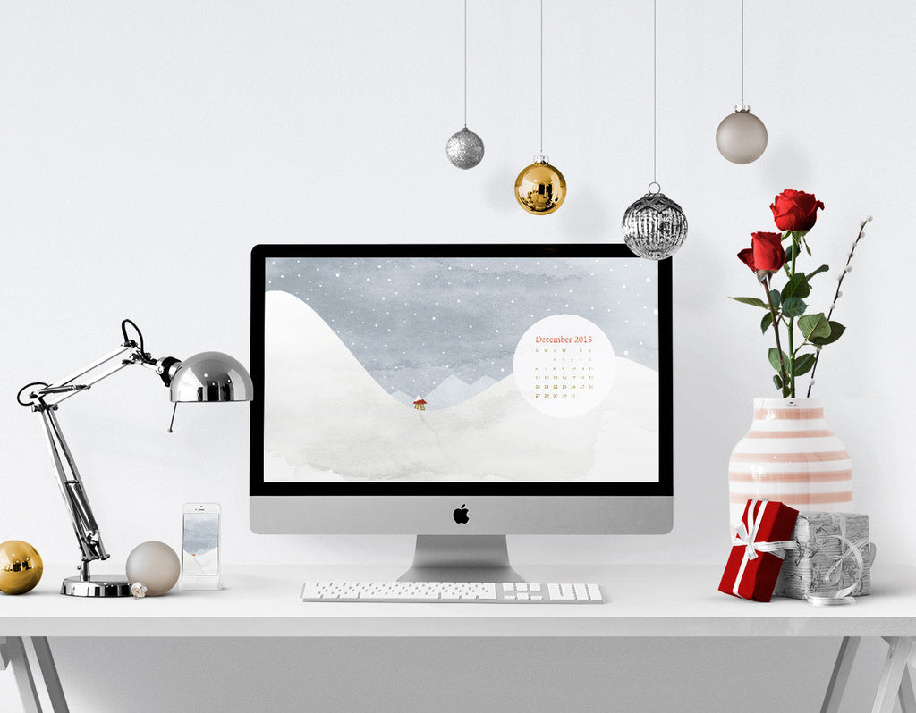 Free desktop calendar and smartphone background for December 2015