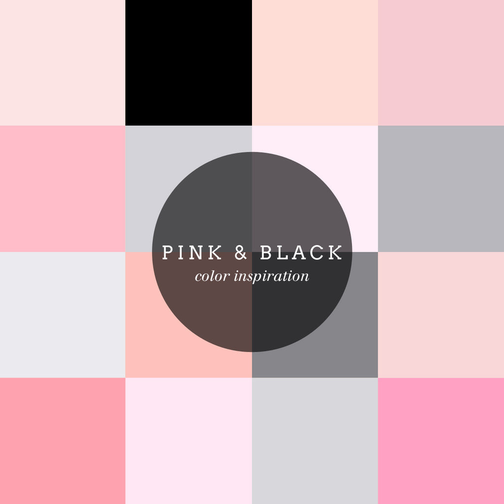Color inspiration : pink and black