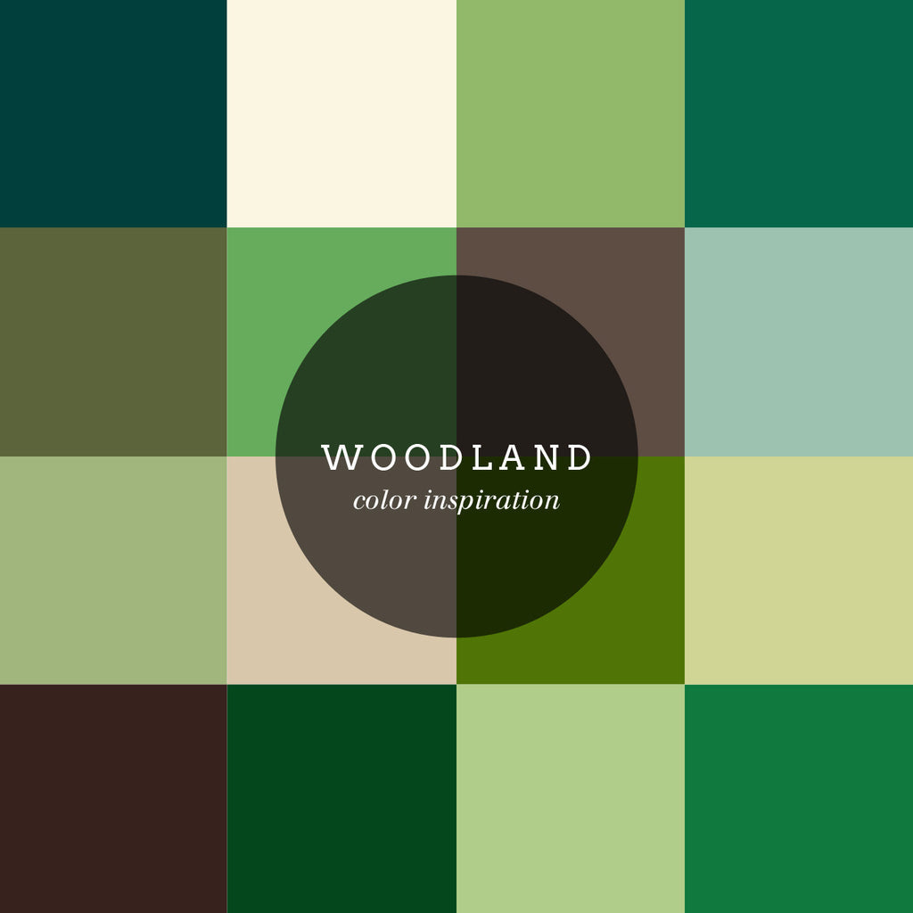 Color inspiration: woodland palette
