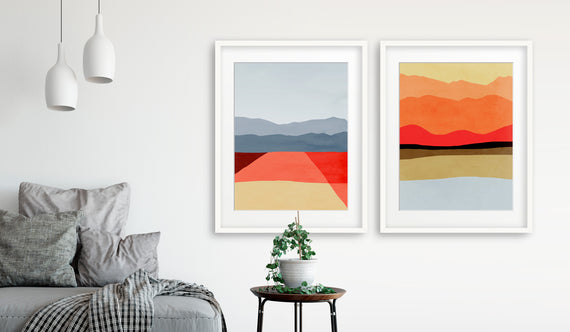 mid century modern abstract wall art