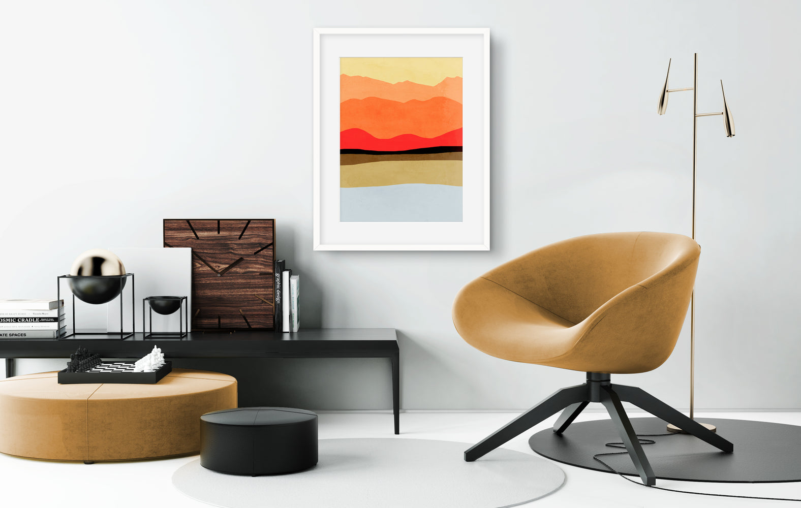mid century modern abstract wall art by eve sand