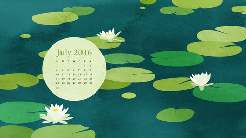desktop calendar for july 2016 by eve sand