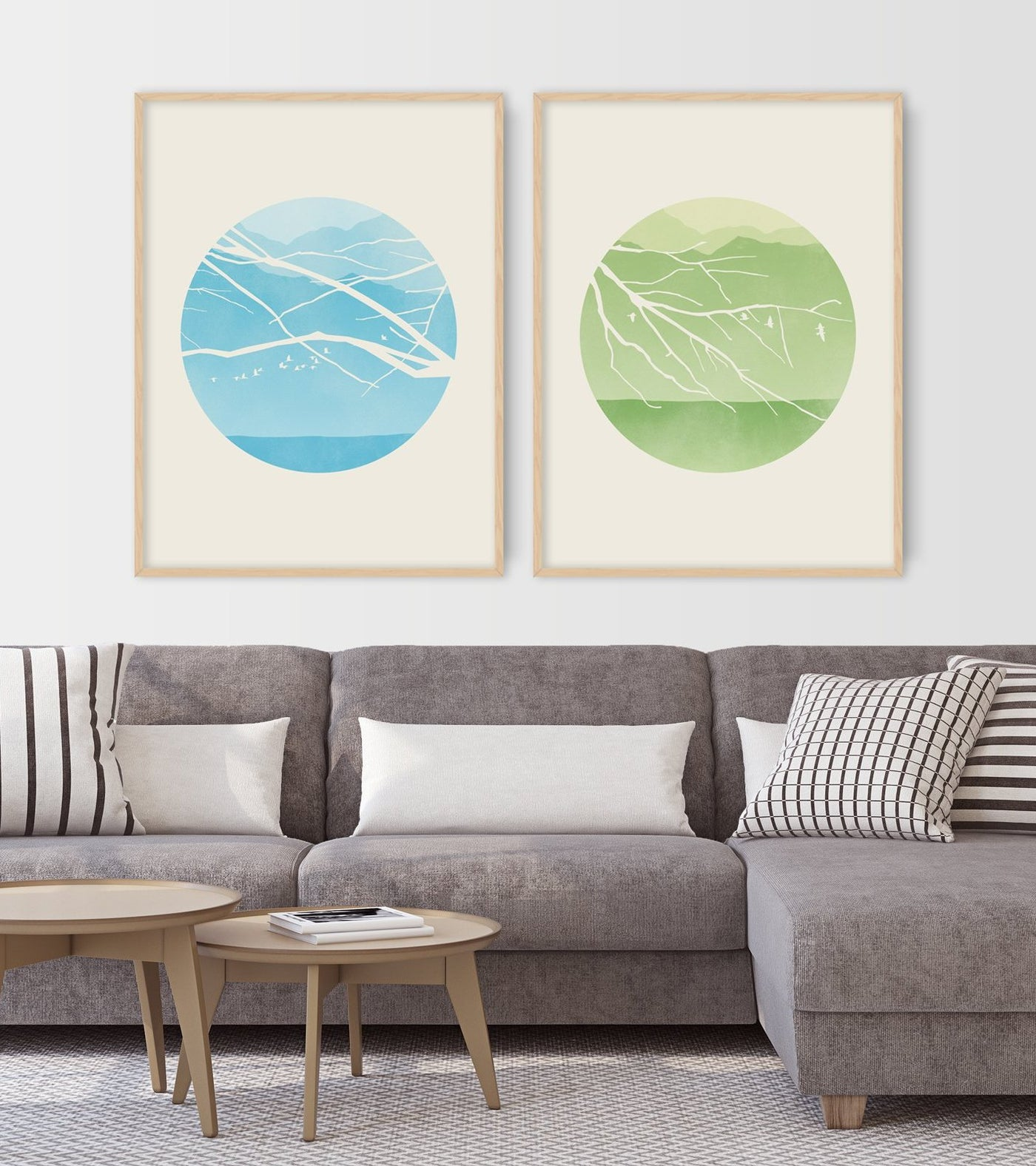 Spring - Wall Art Set of 2 Prints
