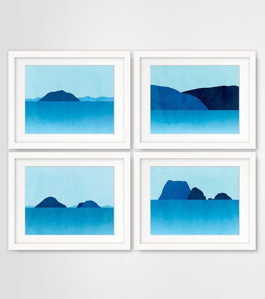Northwest Seascapes - Wall Art Set of 4