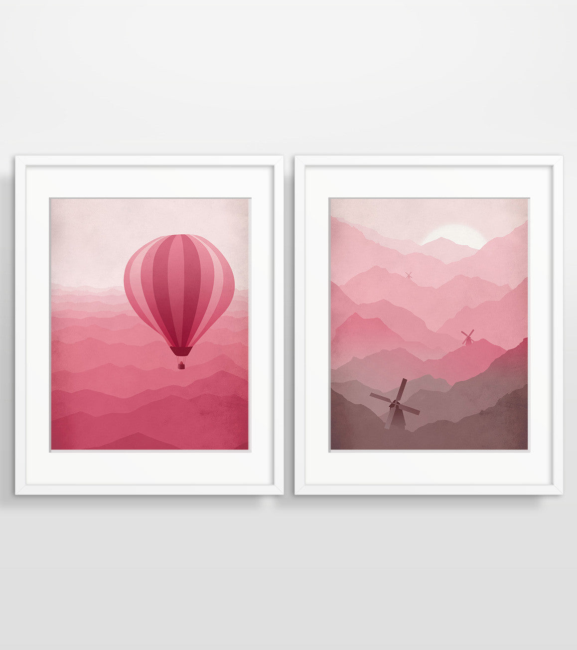 pink nursery decor wall art set of 2 by eve sand