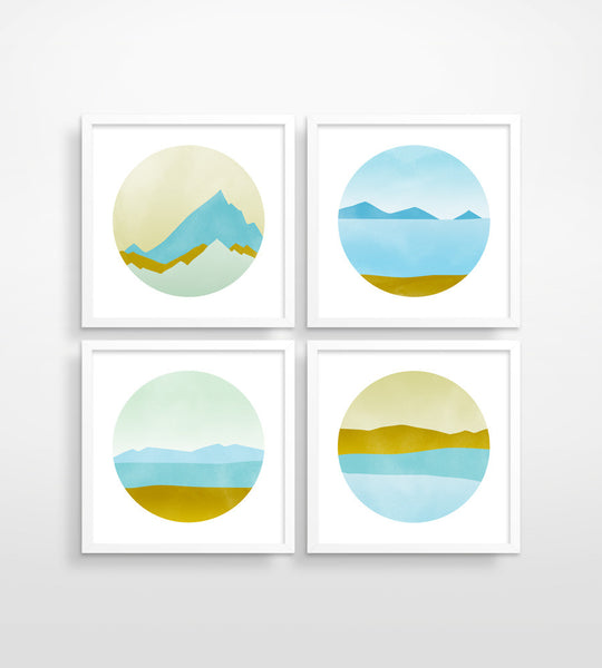 Ode to Pacific Northwest - Wall Art Set of 4