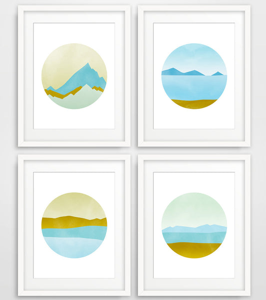 Pacific Northwest - Wall Art Set of 4