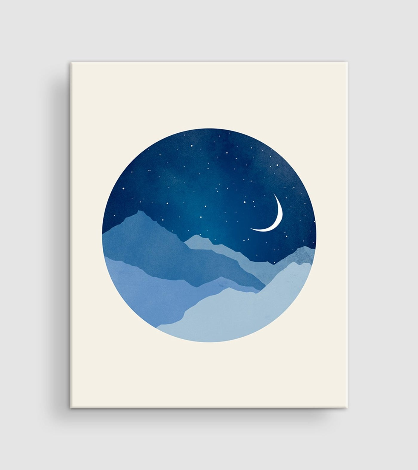 moon and stars nursery decor canvas wall art