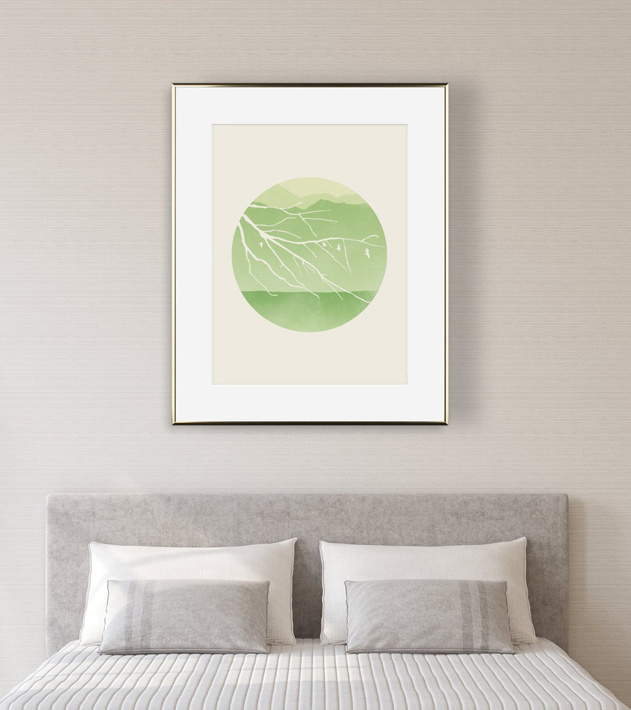 green wall decor for bedroom