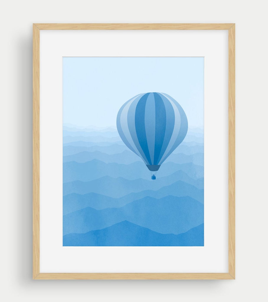 baby boy blue nursery decor wall art print