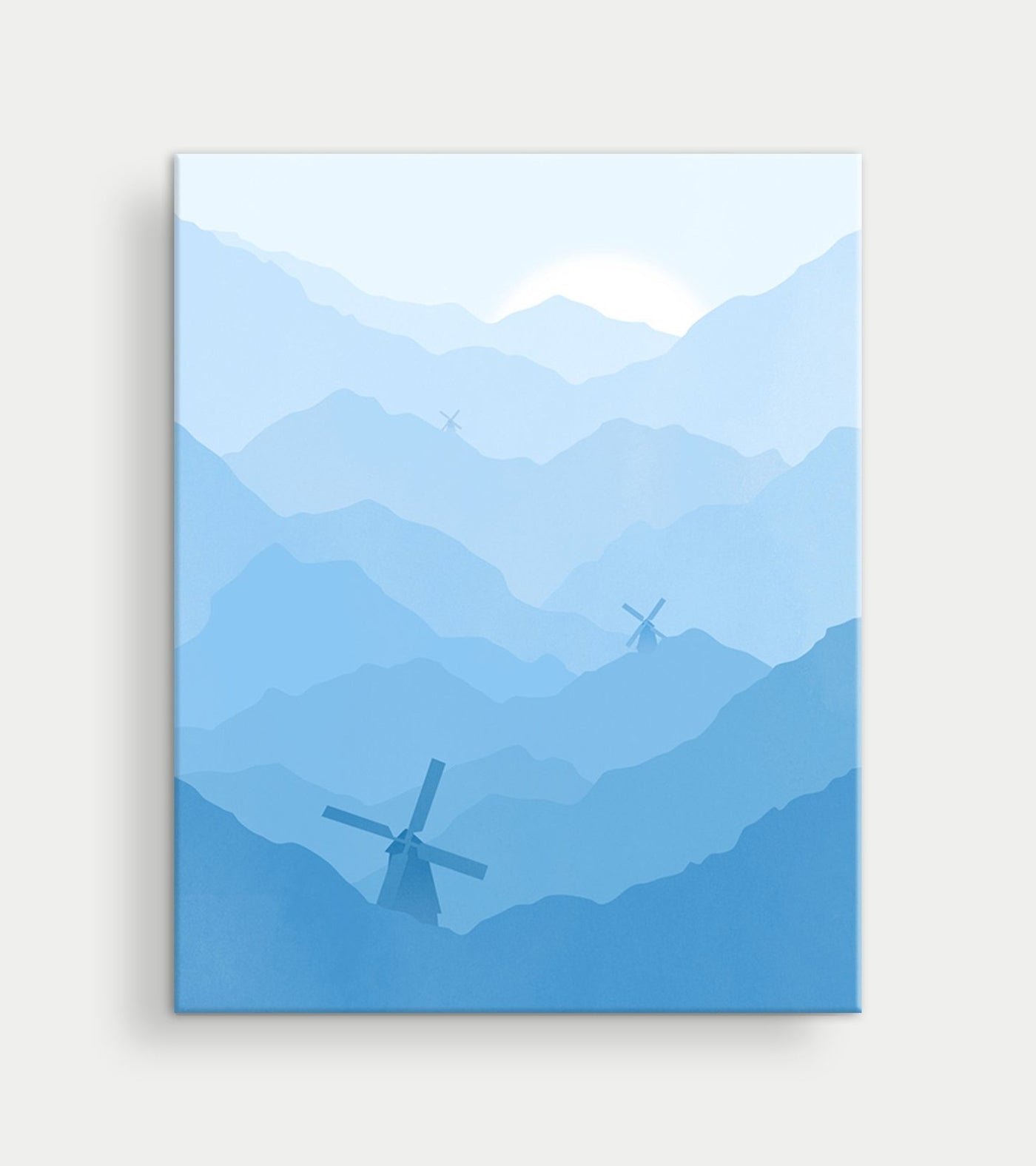 baby blue nursery canvas wall art