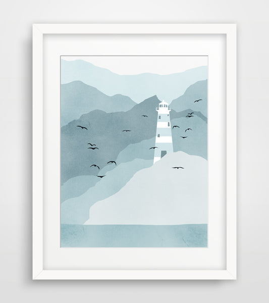 lighthouse nautical wall decor by eve sand