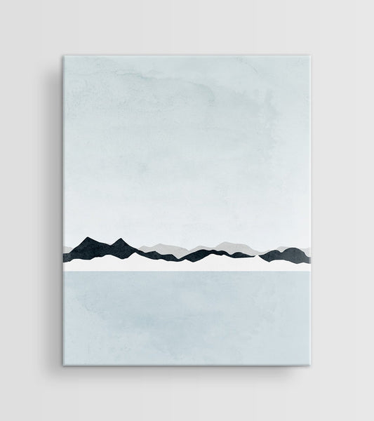minimalist abstract art canvas neutral for living room
