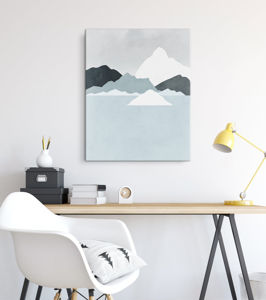 canvas art for office neutral large