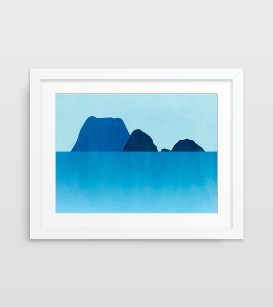 coastal decor wall art in teal blue by eve sand
