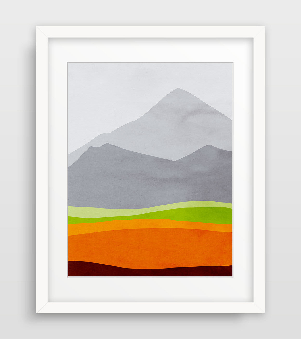 mountain art print by eve sand