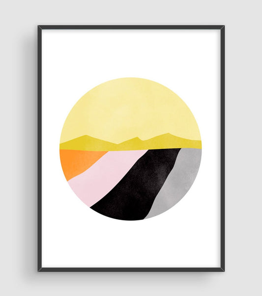 pink and black abstract wall art prints