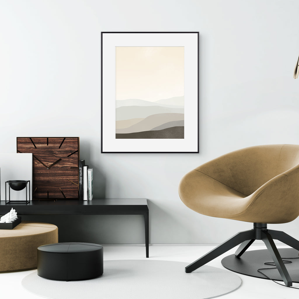 large neutral abstract wall art by eve sand