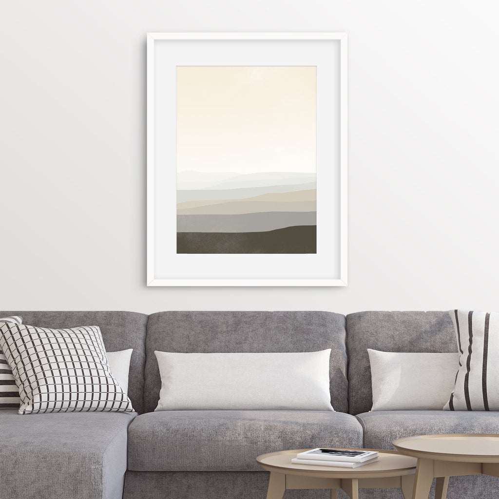 neutral abstract wall art for living room by eve sand