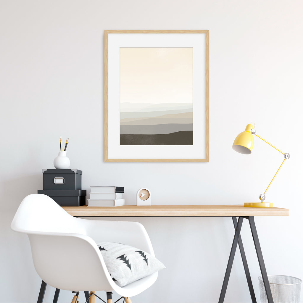large neutral wall art prints