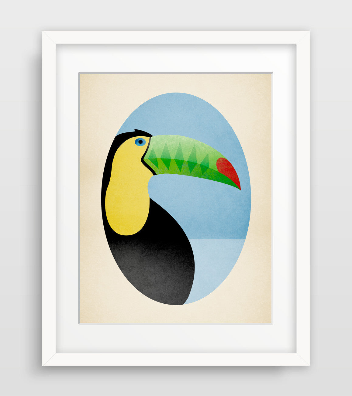 toucan jungle nursery art by eve sand