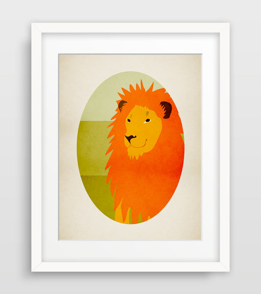 Lion Safari Nursery Decor