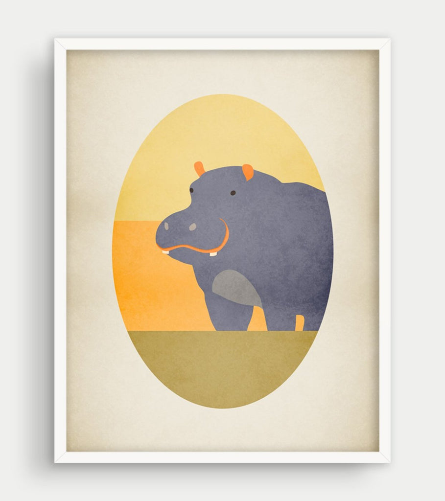 Beautiful Hippo Wall Art Sketch - Wall Art Collections ...