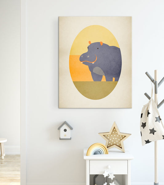 hippo safari nursery decor by eve sand