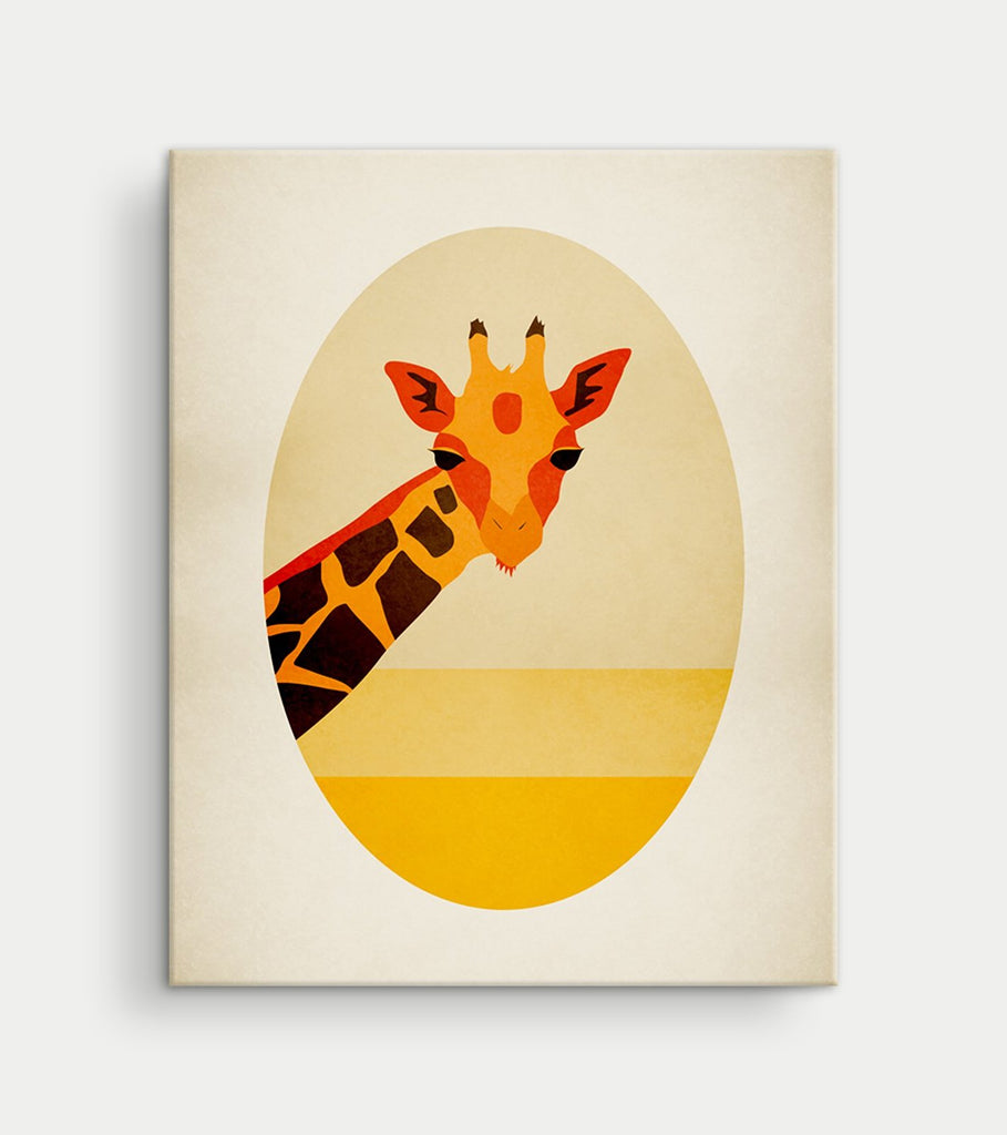 giraffe safari nursery canvas art