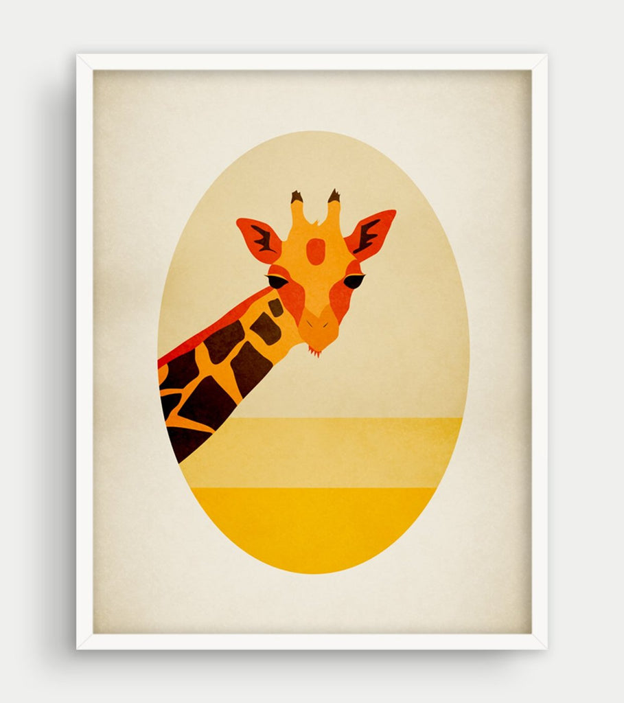 giraffe safari nursery decor by eve sand