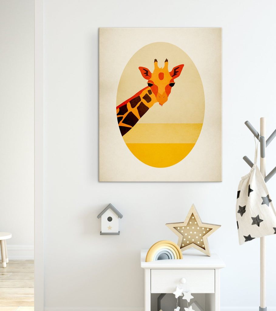 giraffe safari nursery canvas wall decor