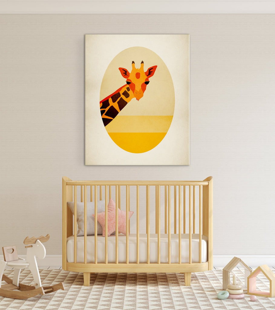 giraffe nursery wall art canvas