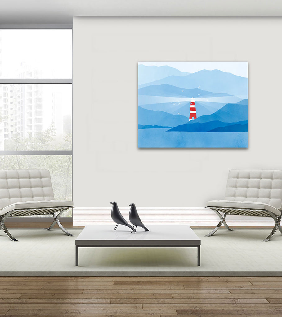 lighthouse nautical decor wall art by eve sand