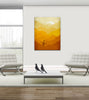 orange nursery decor canvas art print by eve sand
