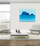 teal wall art coastal decor by eve sand