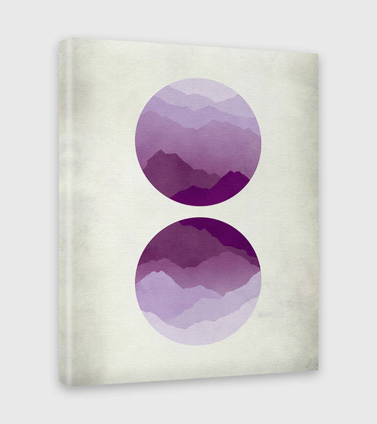purple wall decor canvas art by eve sand