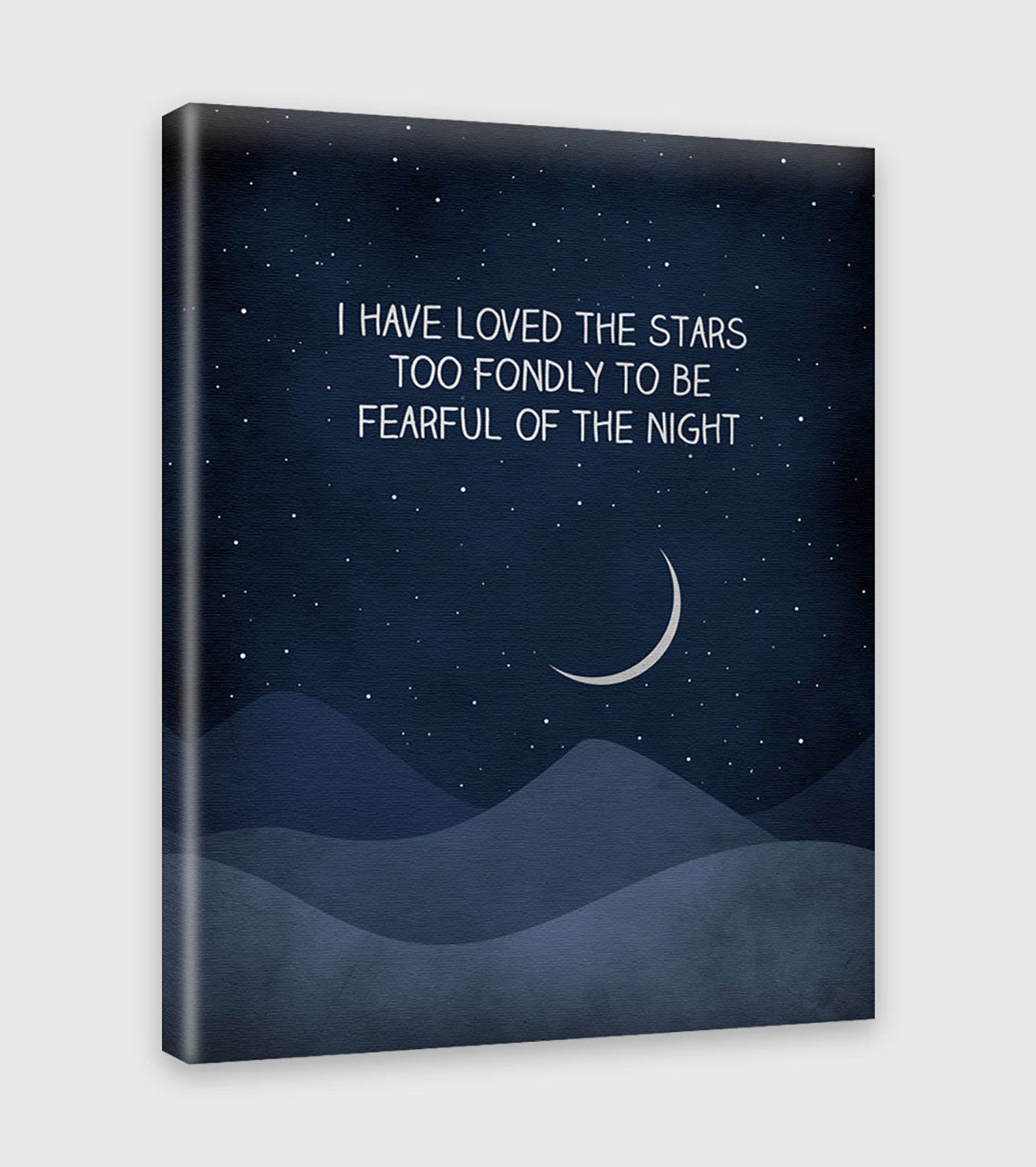 I have loved the stars quote art print by eve sand