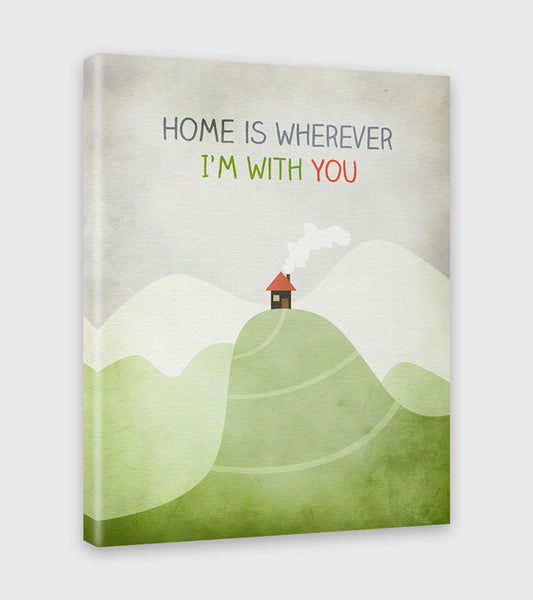 home is wherever i'm with you canvas art by eve sand