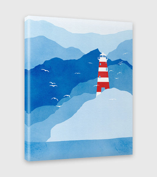 lighthouse nautical decor canvas art by eve sand