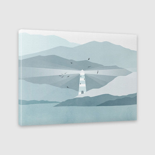 lighthouse nautical decor canvas print by eve sand