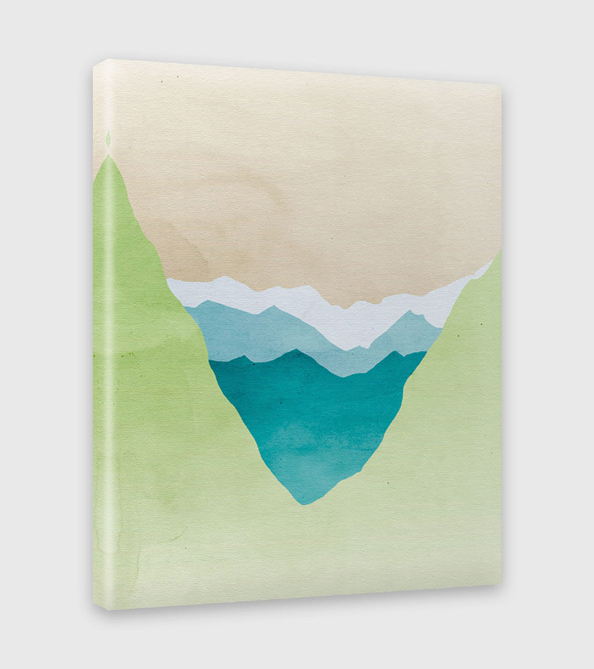 green abstract landscape canvas art print by eve sand