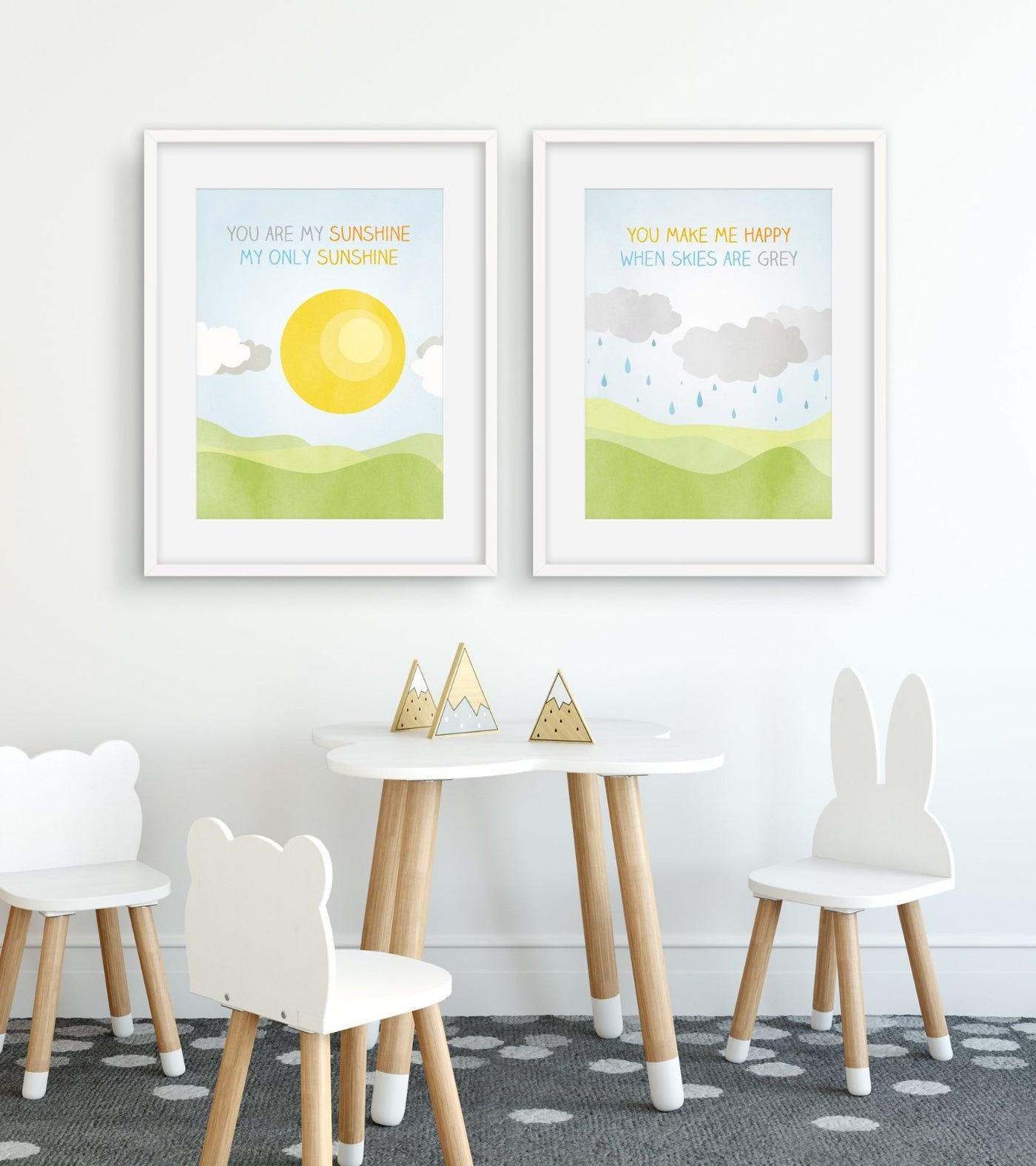 you are my sunshine wall art set of 2 pieces