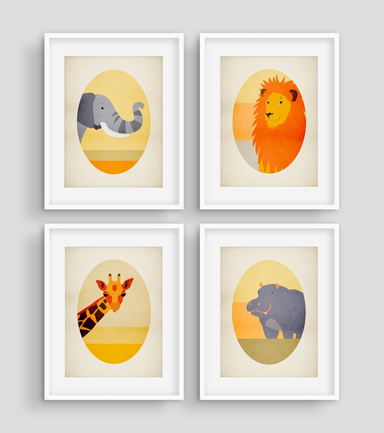 safari nursery wall decor by eve sand