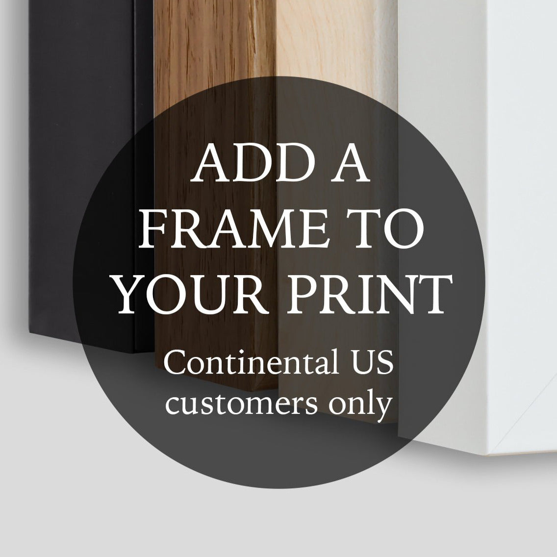 Add A Frame to Your Print - Continental US Only