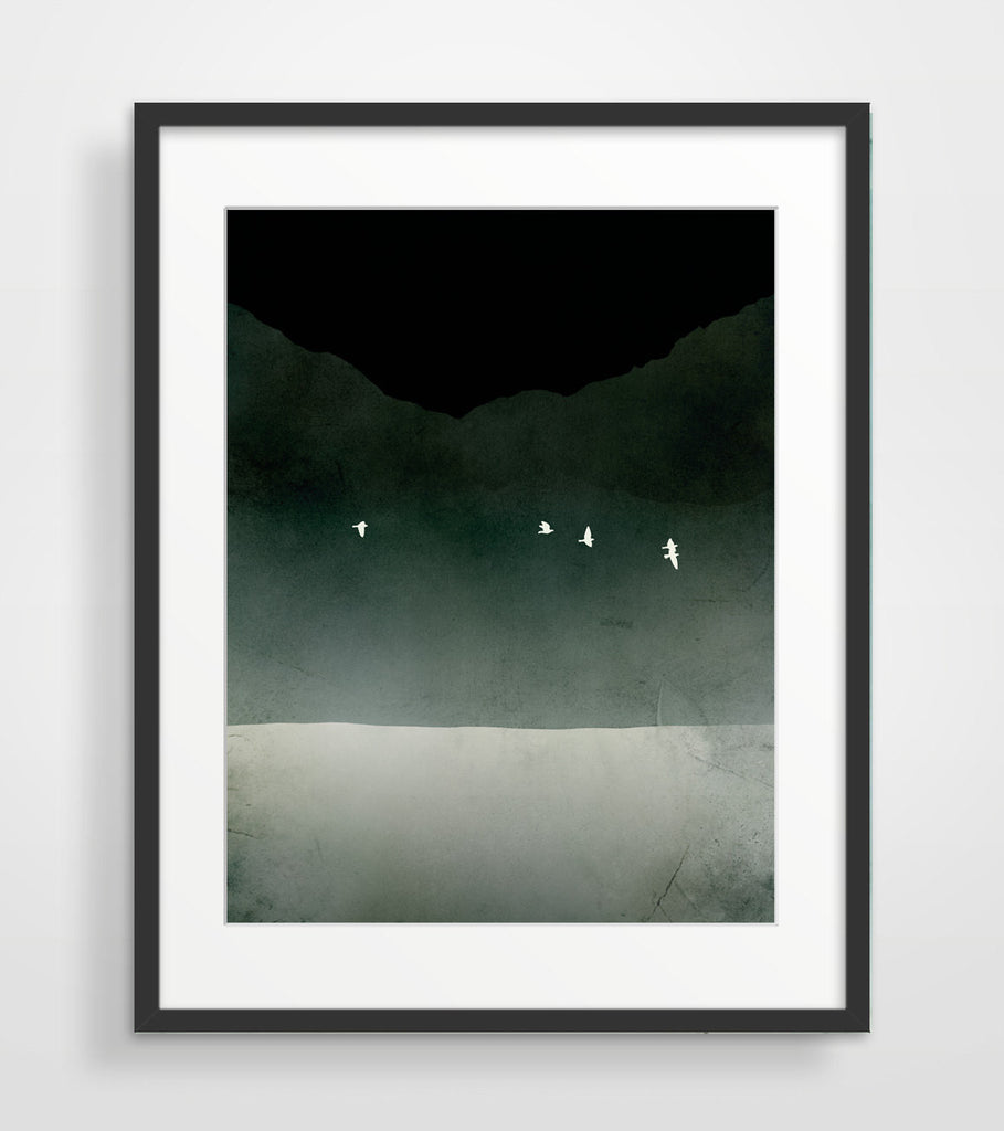 modern abstract art print in black and white by eve sand