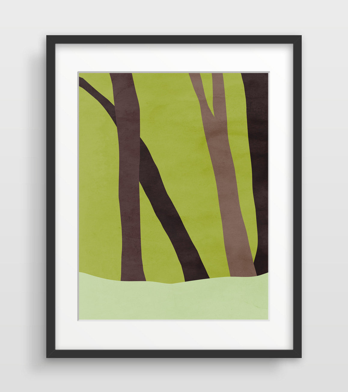 forest trees art print by eve sand