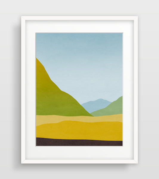 mountains art print by eve sand