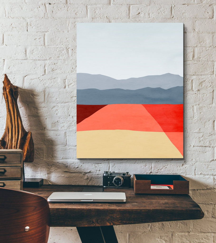 mid century abstract canvas art print by eve sand