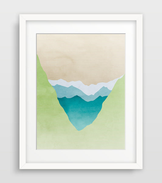 mountain wall art print by eve sand