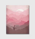 pink nursery canvas art print by eve sand